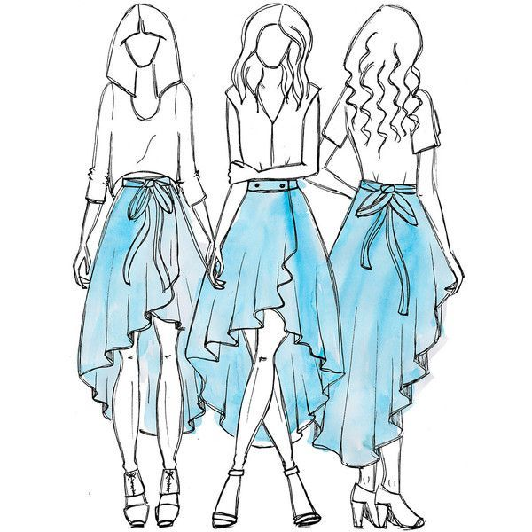 Image result for cascade maxi wrap skirt pattern