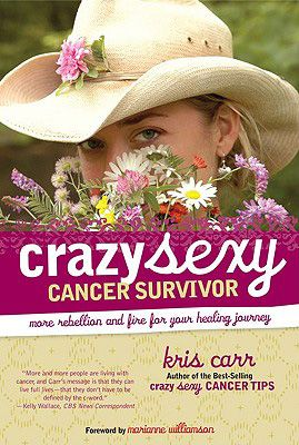 In Crazy Sexy Cancer Survivor, an uplifting guide, Kris Carr begins with her own story—the discovery of inoperable Stage IV cancer in her liver and lungs—then covers four main topics: diagnosis, mind, body and spirit. Though she admits to having bad days, Kris Carr follows her own advice to shake off passive malaise.