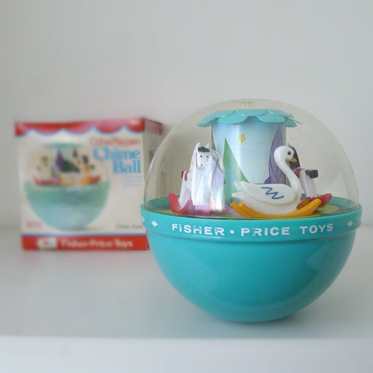 Vintage 1970s Baby Toy, Fisher Price Chime Ball with Box $27.00, via Etsy. I used to have this!