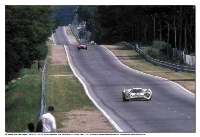 Mulsanne Straight. Cruising at 240 mph. The mighty Porsche 917.