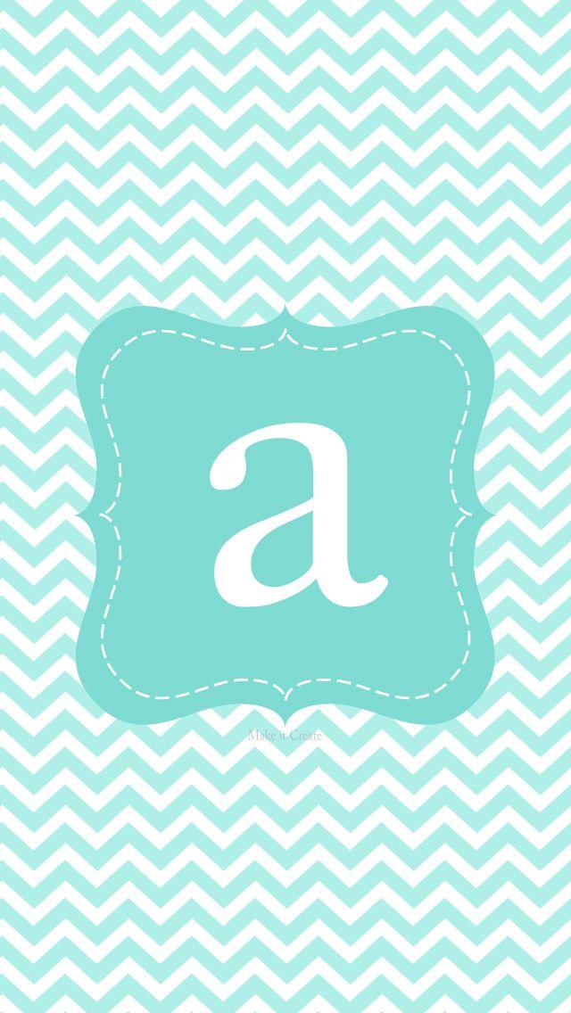Chevron Alphabet (pink & aqua)