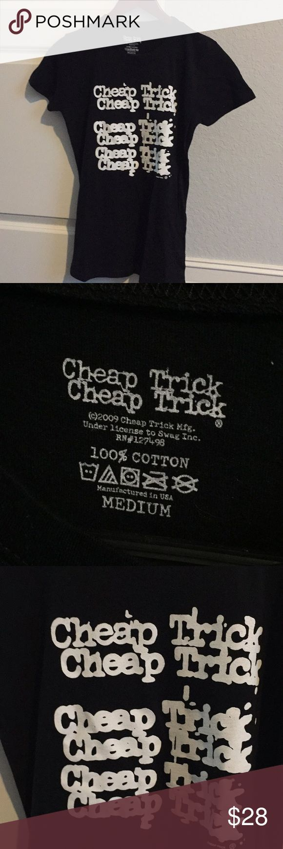 2009 Cheap Trick Concert T-shirt EUC - bought at their Tampa performance - ladies slim fit Tops Tees - Short Sleeve