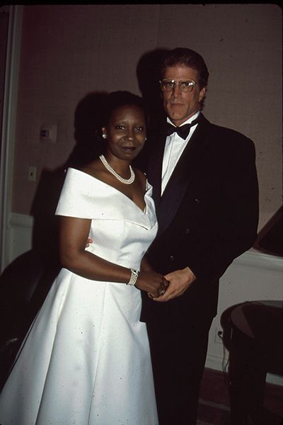 Ted Danson & Whoopi Goldberg   Ted Danson & Whoopi Goldberg   Do you guys remember the early '90s? Back when Ted Danson and Whoopi Goldberg dated? And Ted Danson showed up in black face at a Friars Club Roast? Yeah, maybe we should forget that last part...