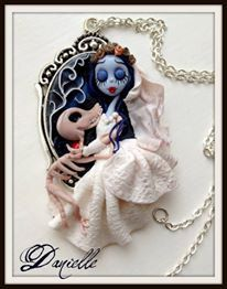 Corpse bride in polymer claypolymer clay by Lepetitedidanielle