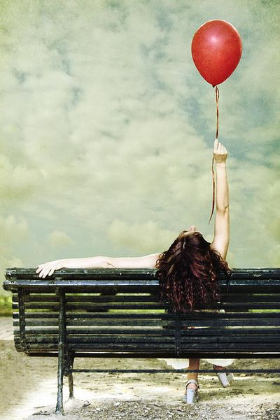 ...The red balloon....she pinned all her hopes on him, but like the red balloon in her hand, he didn't even have enough hot air to lift her off the ground, much less rescue her.