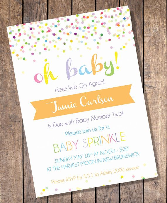 Custom Sprinkle Baby Shower Invitation by LookandSeaCreative, $10.00