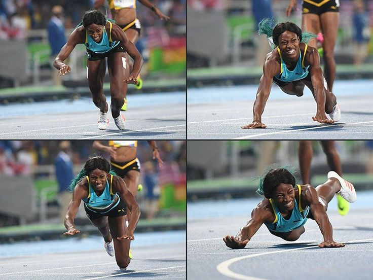 How the Internet Reacted to Shaunae Miller's Gold Medal-Worthy Finish Line Dive