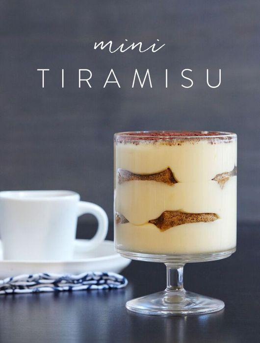 Mini Tiramisu via @PureWow