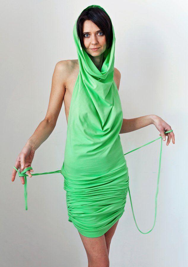 Zielona sukienka MoreLove TANTRA (proj. MoreLove), do kupienia w DecoBazaar.com