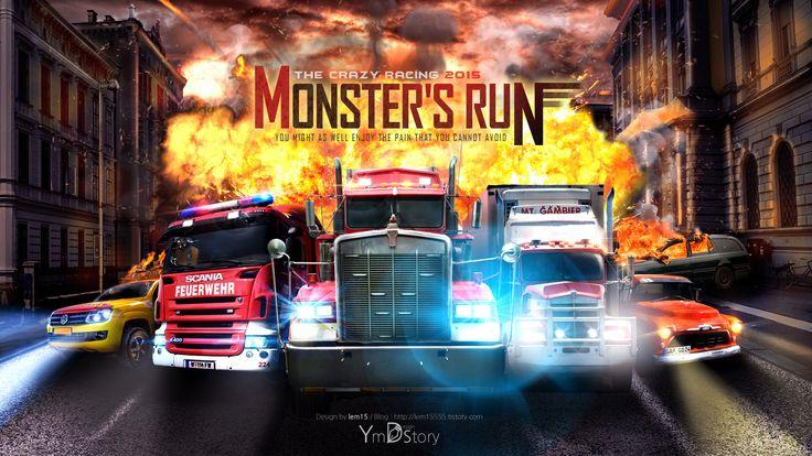 Photoshop Artwork #08 - Monster's run :: Ym.d_story