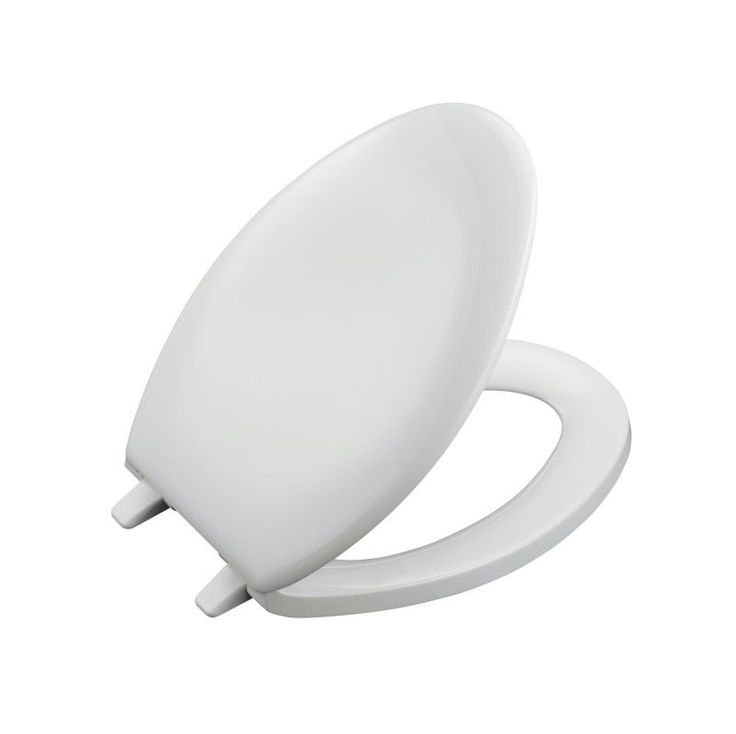 Kohler K-4659 Bancroft Q2 Elongated Closed-Front Toilet Seat with Quick-Release White Accessory Toilet Seat Elongated