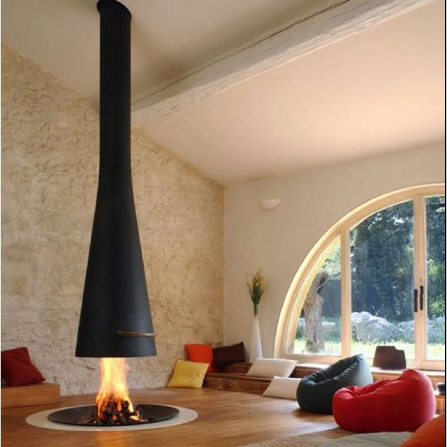 Fireplace: Modern Fireplaces, Modern Living Rooms, Simple Living, Fireplaces Design, Living Rooms Design, Beans Bags, Firepit, Fire Pit, Fire Places