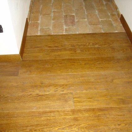 pavimento in legno abbinato al cotto