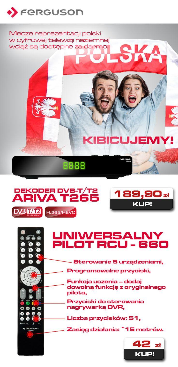 Przypominamy, że mecze reprezentacji polski w cyfrowej telewizji naziemnej, wciąż można oglądać za darmo :) https://sklep.ferguson.pl/pl/c/Dekodery-telewizji-naziemnej/72
