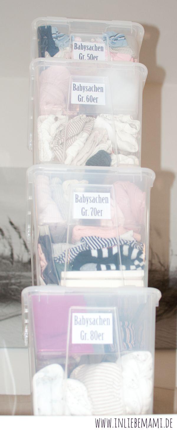 Babykleidung aufbewahren: Wie man Unmengen an Babykleidung organisiert