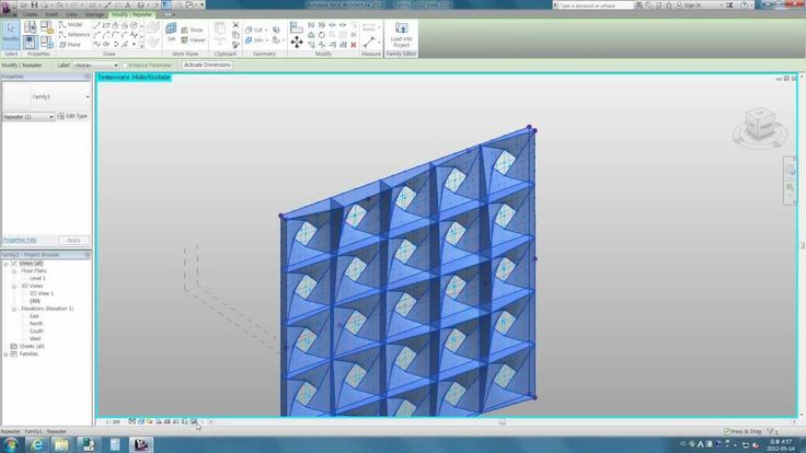Revit tips - using adaptive component with multi surfaces in Revit 2013