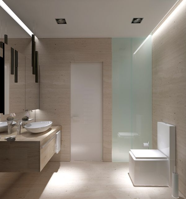 Thoroughly Modern With Clean Lines And Clad In Travertine