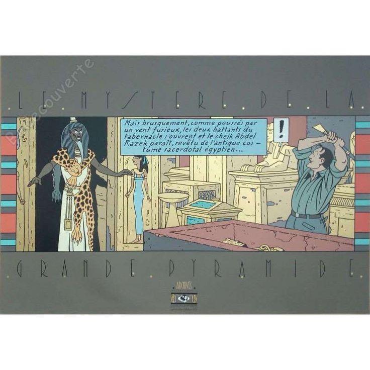 Sérigraphie Jacobs - Blake Et Mortimer Le Mystère De La Grande Pyramide Le Cheik