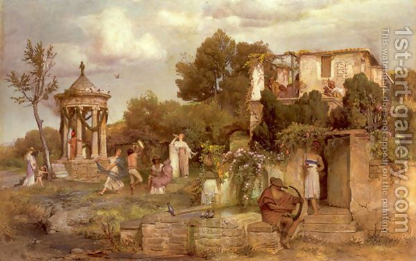 A Tavern in Ancient Rome 1867-68 by Arnold Böcklin