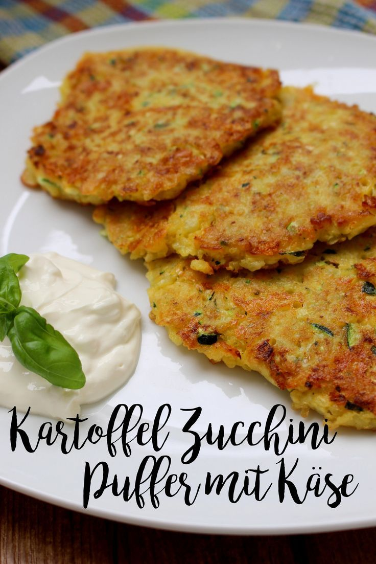Kartoffel-Zucchini-Puffer   – Zucchini Rezepte