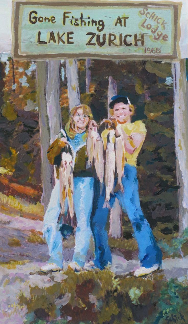 """""""Schick Lodge. Since 1962"""" Artista: Virginia Schick, acrílico sobre papel, 21.5x28 cm, 2015 +PA"""