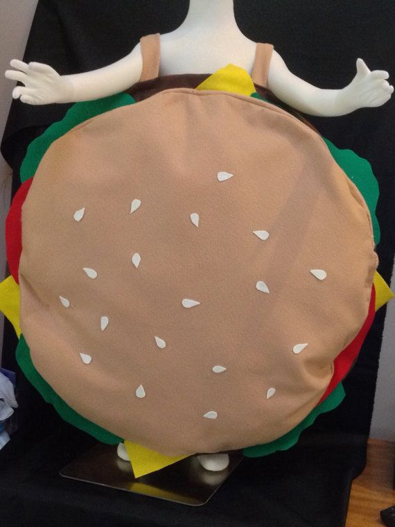 Hamburger costume by LollipopLucy on Etsy
