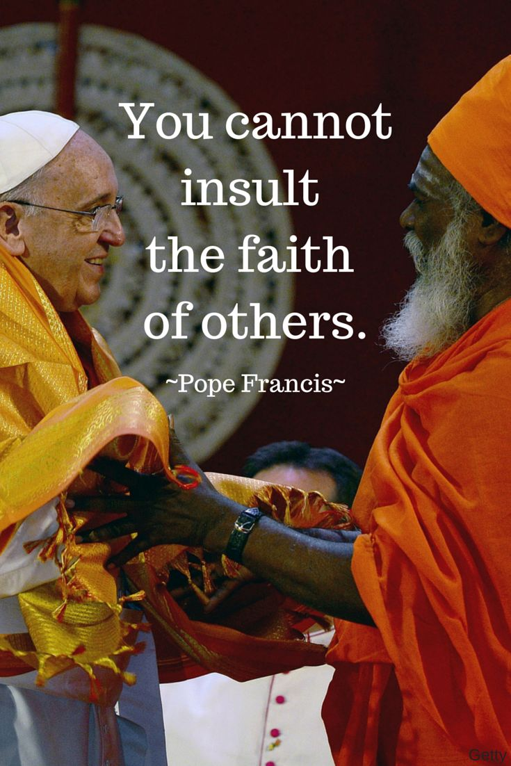 Pope Francis shares his opinion on where to draw the line between free speech and respecting others' religions.