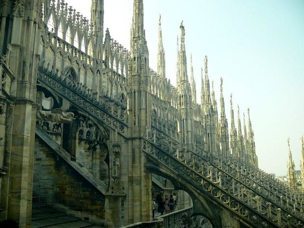The roof of Duomo in Milano.