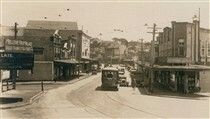 New South Head Rd in Double Bay in the eastern suburbs of Sydney in the 1930s.
