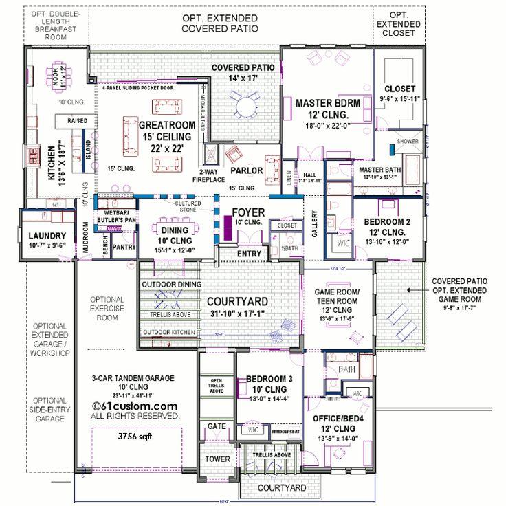 courtyard house floorplan