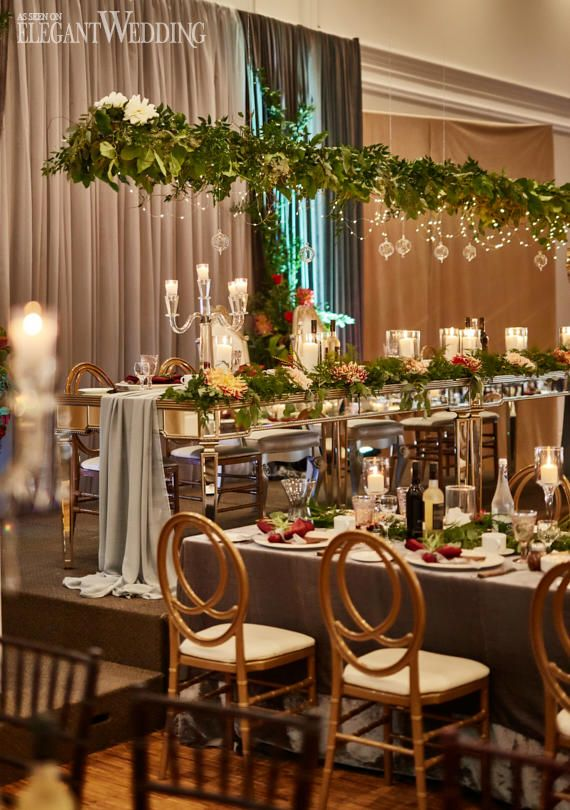 Greenery Wedding Table Setting, Hanging Greenery Ideas, Greenery Wedding Theme, Fall Wedding Ideas #greenery #weddingtablesetting #weddingideas
