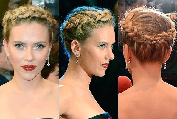 Scarlett Johansson's Braided Halo - Do It Yourself - How to Get Hollywood's Best Hairstyles at Home - StyleBistro