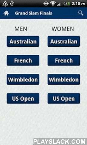 Tennis Champions  Android App - playslack.com ,  Think you can name the recent champions in Grand Slam play? How many can you get?? How many recent Wimbledon winners can you name?Let the Tennis Champions App help!Have the results of all the Grand Slam singles finals (Australian Open, Wimbledon, French Open, US Open) in tennis right at your fingertips. No more wondering who won the the 1984 US Open because you can get the results quickly and efficiently thanks to the Grand Slam Tennis…