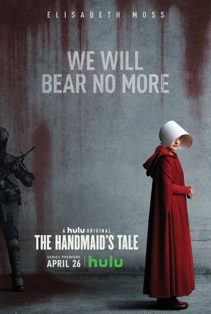 The Handmaid's Tale (Hulu-April 26, 2017) a drama Sci-Fi film created by Bruce Miller. Based on the novel of the same name by Margaret Atwood. Set in a dystopian future, a woman is forced to live as a concubine under a fundamentalist theocratic dictatorship. Stars: Elisabeth Moss, Joseph Fiennes, Yvonne Strahovski, Alexis Bledel, Madeline Brewer, Ann Dowd, O. T. Fagbenle, Max Minghella, Samira Wiley.