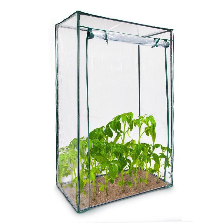 Relaxdays Tomatengewächshaus ca. 150 cm hoch, Stecksystem - Stahlrohr + Folie: Amazon.de: Garten