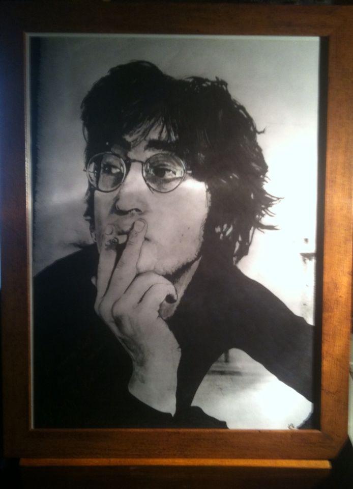 John Lennon . . .  By . . K . s . . .  (Pencil & Ink) (30x40cm)