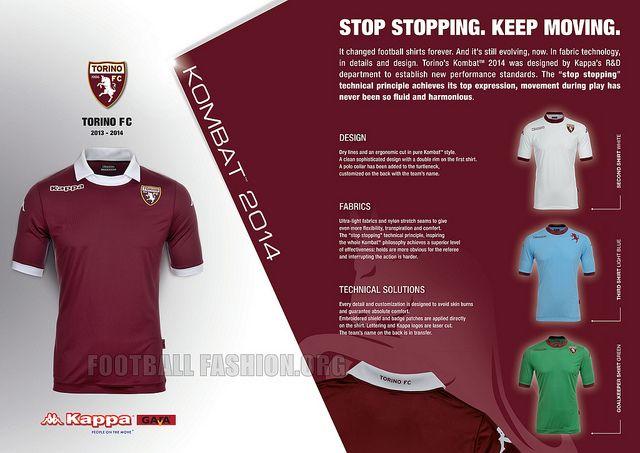 Torino FC 2013/14 Kappa Home, Away and Third Kits