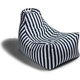 Juniper Outdoor Striped Bean Bag Lounger Jaxx Upholstery: Navy Stripe