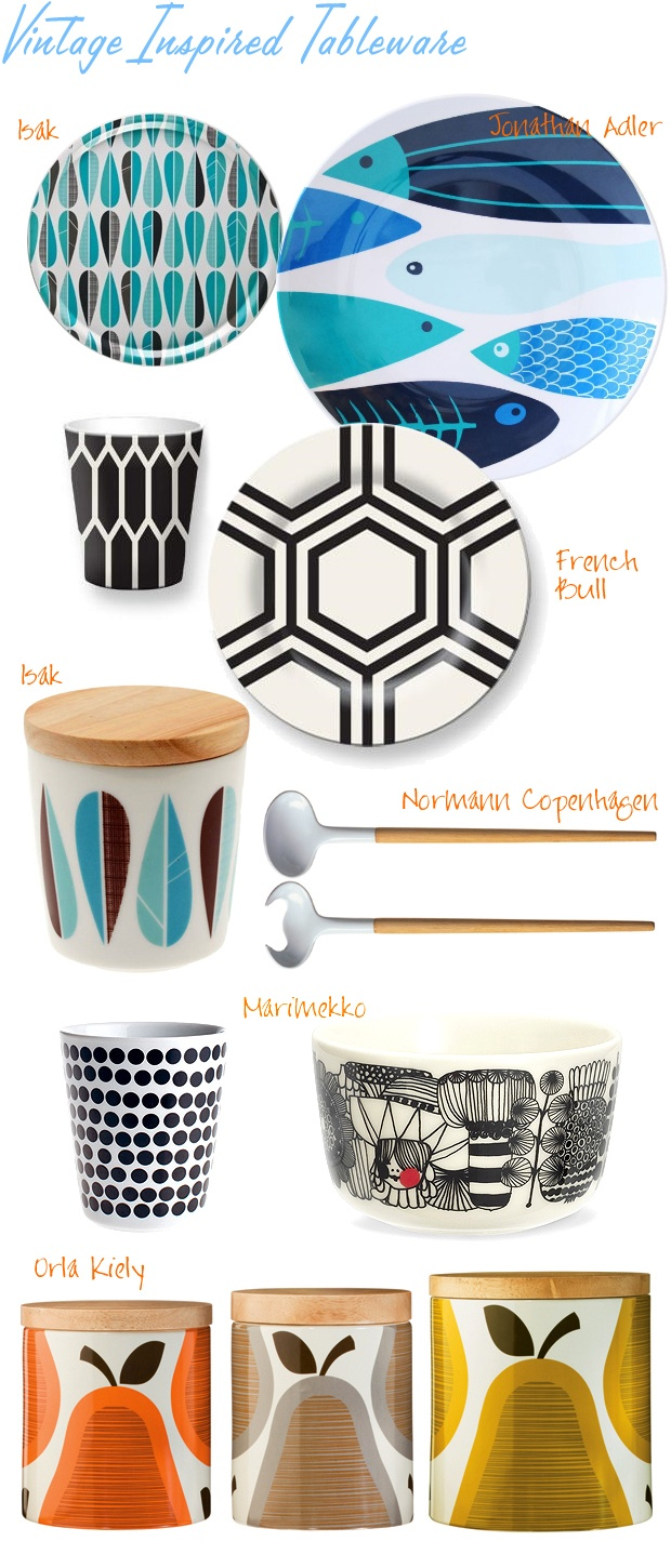 vintage inspired tableware