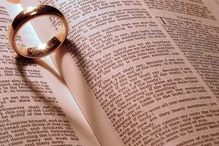Love how the shadow forms a heart. This doesn't have to be just a wedding photo. Think about it as a gift to a wife/husband and put the ring on a particularly favorite passage of scripture.