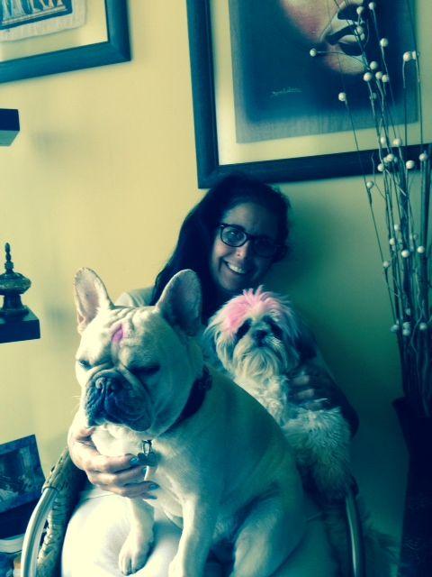 Kira and her doggie babies: Bartley & Briella!