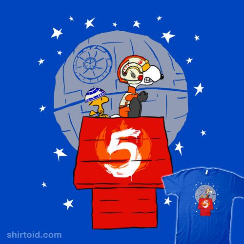 Peanut Squadron #deathstar #film #kalgado #movie #peanuts #r2d2 #red5 #scifi #snoopy #starwars #woodstock