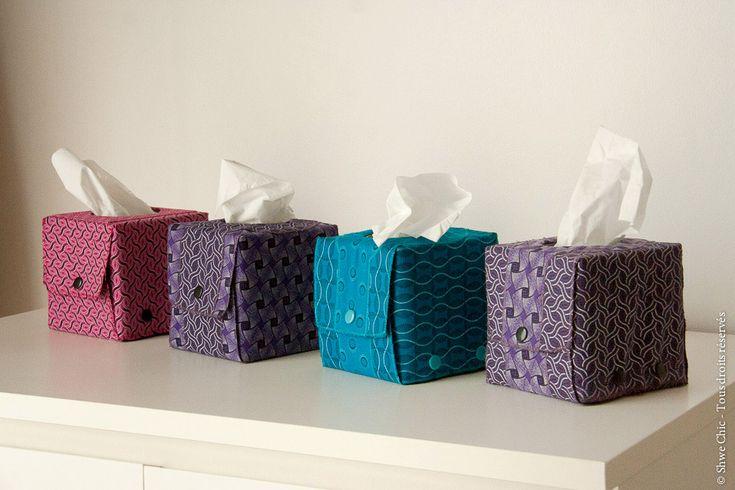 Shwe Chic - Réaliser une boite à mouchoirs en shweshwe