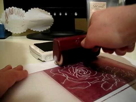 Brayering on a Sizzix Textured Embossing Folder