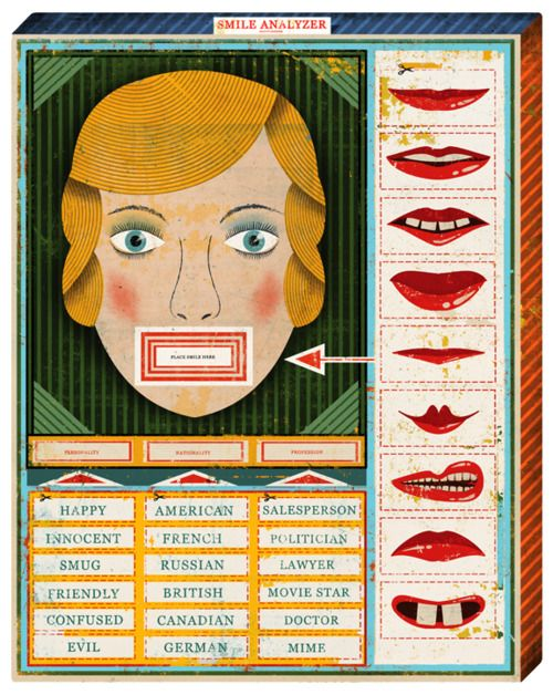 The Smile Analyzer - offensive vintage game. Creepy.  Viaiconoclassic:    (via christian northeast - journal - New York Times_Science frontpage)