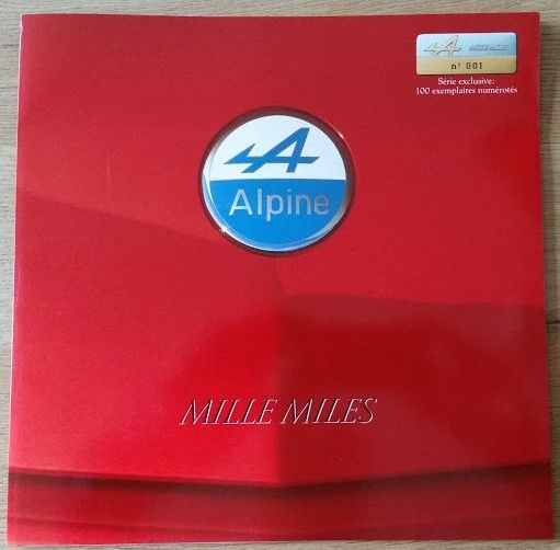 89 Alpine Mille Miles V6 Turbo French Sales Brochure 6 Square Color Pages And 12 B W With History Of The Brand 05 1989 Only 100 Cars Built 39 257 10