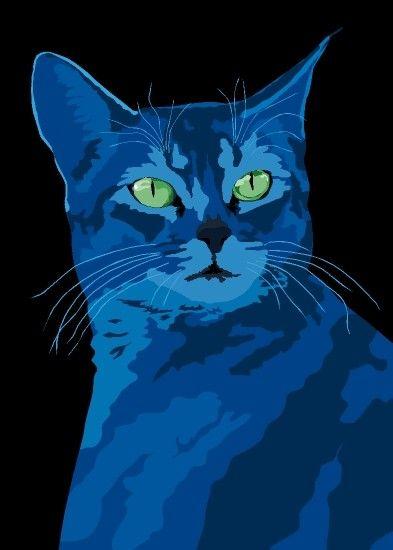 Magic Cat Artwork copyright © 2009 Sebastiano Ranchetti. animalsincolor on Etsy