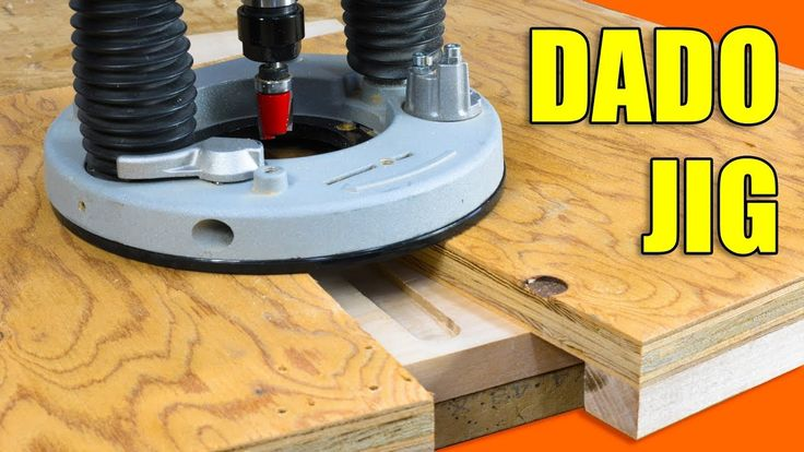 Learn how to make a simple router jig for cutting dado joints.