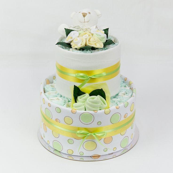 The Essentials Range Nappy Cake - Lemon/Lime