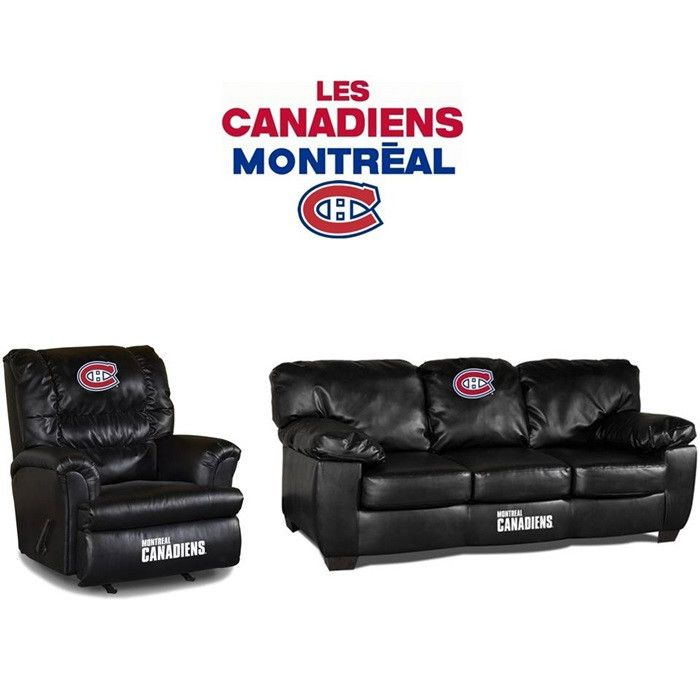 Use this Exclusive coupon code: PINFIVE to receive an additional 5% off the Montreal Canadiens Leather Furniture Set at SportsFansPlus.com